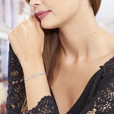 Bracelet Grethel Argent Blanc Turquoise - Bracelets chaînes Femme | Marc Orian