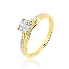 Bague Kate Or Jaune Et Diamant - Parure de mariage Femme | Marc Orian