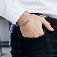 Bracelet Jonc Mike Argent Blanc - Bracelets jonc Homme | Marc Orian