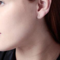 Boucles D'oreilles Or Jaune Noeud Oxydes - Clous d'oreilles Femme | Marc Orian
