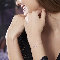 Bracelet Klothilda Or Blanc Oxyde De Zirconium - Bracelets chaînes Femme | Marc Orian