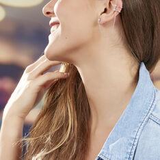 Bijoux D'oreilles Valerie-anne Argent Blanc Oxyde De Zirconium - Boucles d'oreilles Ear cuffs Femme | Marc Orian