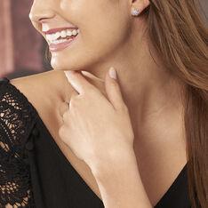 Boucles D'oreilles Puces Effie Argent Blanc Oxyde De Zirconium - Clous d'oreilles Femme   Marc Orian
