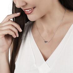 Collier Petale Or Blanc Saphir Et Diamant - Colliers Femme | Marc Orian