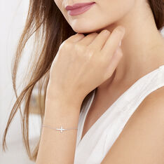 Bracelet Carlie Argent Blanc Oxyde De Zirconium - Bracelets chaînes Femme | Marc Orian