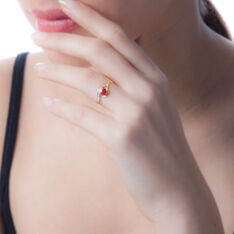 Bague Sagesse Or Jaune Rubis Et Diamant - Bagues Femme | Marc Orian
