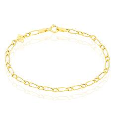 Bracelet Or Jaune Maille Alternee Esma - Bracelets mailles Enfant | Marc Orian