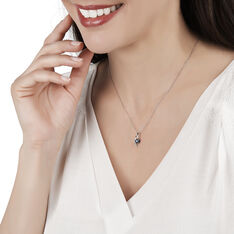 Collier Sagesse Or Blanc Saphir Et Diamant - Colliers Femme | Marc Orian