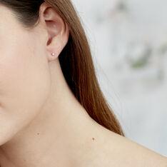 Boucles D'oreilles Or Blanc Victoria Puce - Clous d'oreilles Femme | Marc Orian