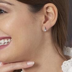 Boucles D'oreilles Pendantes Vera Argent Blanc Oxyde De Zirconium - Boucles d'oreilles Pendantes Femme   Marc Orian