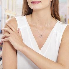 Collier Patrizia Argent Blanc Oxyde De Zirconium - Colliers Femme | Marc Orian