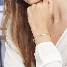 Bracelet Jonc Cynthia Fil Flexible Or Jaune - Bracelets jonc Femme   Marc Orian