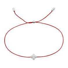 Bracelet Or Blanc Dorinia Cordon Croix Diamants - Bracelets cordons Femme | Marc Orian