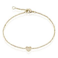 Bracelet Nafissa Plaque Or Jaune Oxyde De Zirconium - Bracelets chaînes Femme | Marc Orian