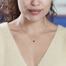 Collier Alionka Or Rose Rhodolite - Colliers Femme | Marc Orian