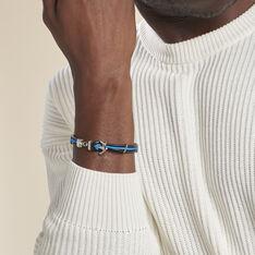 Bracelet Penda Acier Blanc - Bracelets cordons Homme | Marc Orian