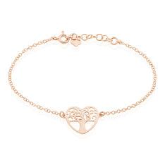 Bracelet Tyfen Argent Rose - Bracelets chaînes Femme | Marc Orian