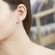 Boucles D'oreille Or Et Oxyde - Clous d'oreilles Femme | Marc Orian