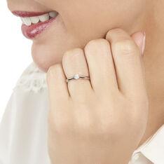 Bague Solitaire Veronika Or Blanc Diamant - Bagues Solitaire Femme | Marc Orian