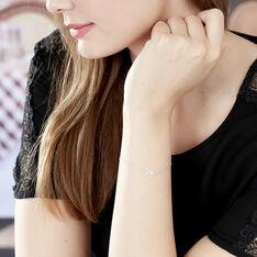 Bracelet Elisa Or Blanc Et Diamants - Bracelets chaînes Femme | Marc Orian