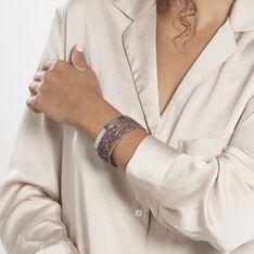 Bracelet Manchette Ouvert Acier Blanc Carron - Bracelets manchettes Femme | Marc Orian