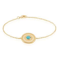 Bracelet Mora Plaque Or Jaune Amazonite - Bracelets chaînes Femme | Marc Orian