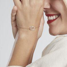 Bracelet Poeae Plaque Or Jaune Oxyde De Zirconium - Bracelets chaînes Femme   Marc Orian