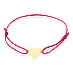 Bracelet Helenia Coeur Gravable Or Jaune - Bracelets cordons Enfant | Marc Orian