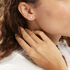 Boucles D'oreilles Puces Kesya Nacres Bouton Or Jaune Perle De Culture - Clous d'oreilles Femme | Marc Orian