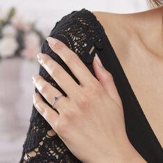 Bague Charmante Or Blanc Saphir Et Diamant - Bagues Solitaire Femme | Marc Orian