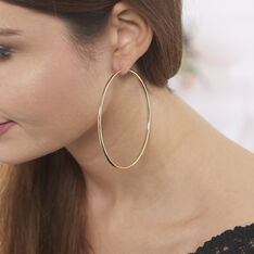 Créoles Ada Lisse Plaque Or Jaune - Boucles d'oreilles Créoles Femme | Marc Orian