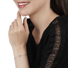 Bracelet Juliettina Or Blanc Emeraude Et Diamant - Bracelets chaînes Femme | Marc Orian