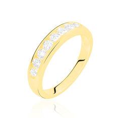 Demi-alliance Or Jaune Giulia Diamants - Alliances Femme | Marc Orian