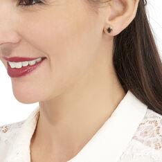 Boucles D'oreilles Puces Vrille Ovale Or Jaune Quartz - Clous d'oreilles Femme | Marc Orian