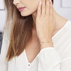 Bracelet Jonc Cynthia Fil Plat Lisse Or Jaune - Bracelets jonc Femme   Marc Orian