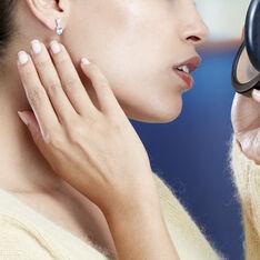 Boucles D'oreilles Or Blanc Annchen Topazes Oxydes - Clous d'oreilles Femme | Marc Orian