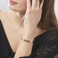 Bracelet Jonc Edmoneae Plaque Or Jaune - Bracelets fantaisie Femme   Marc Orian