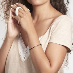 Bracelet Flavia Argent Blanc - Bracelets cordons Femme | Marc Orian