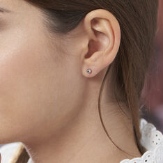 Boucles D'oreilles Puces Fidelia Boule Or Blanc - Clous d'oreilles Femme | Marc Orian