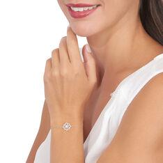 Bracelet Kaelia Or Blanc Oxyde De Zirconium - Bracelets chaînes Femme   Marc Orian