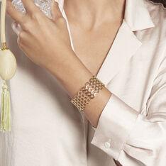Bracelet Manchette Ouvert Acier Doré Buglose - Bracelets manchettes Femme | Marc Orian