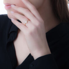Bague Inesse Or Jaune Oxyde De Zirconium - Bagues Solitaire Femme   Marc Orian