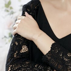 Bracelet Maryeme Infini Boules Diamante Or Jaune - Bracelets chaînes Femme | Marc Orian