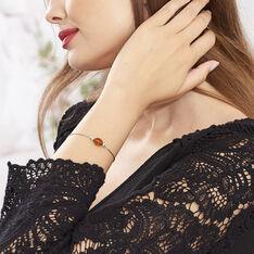 Bracelet Safaa Argent Blanc Ambre - Bracelets chaînes Femme | Marc Orian