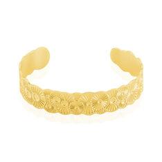 Bracelet Jonc Imagine Florette Acier Jaune - Bracelets jonc Femme | Marc Orian