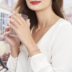 Bracelet Madya Maille Ovale Plaque Or Jaune - Bracelets chaînes Femme | Marc Orian