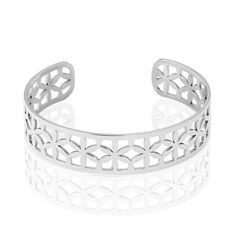 Bracelet Jonc Milda Acier Blanc - Bracelets jonc Femme | Marc Orian