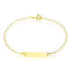 Bracelet Identité Estella Maille Cheval Or Jaune - Gourmettes Enfant | Marc Orian