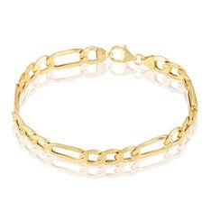 Bracelet Or Jaune Maille Alternee - Bracelets mailles Homme | Marc Orian