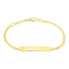 Bracelet Identité Euphenia Maille Bismark Or Jaune - Gourmettes Enfant | Marc Orian